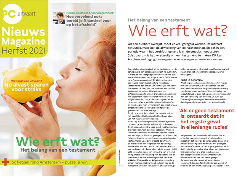 PCUitvaart_nieuwsmagazine_interview_Partiar_nieuwsbericht