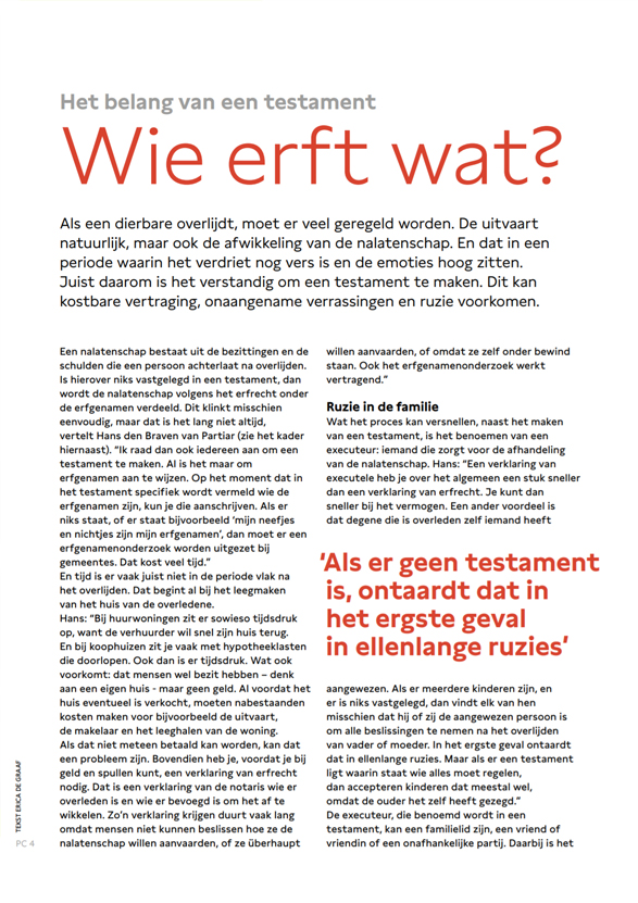 PC Uitvaart nieuwsmagazine interview Partiar 1